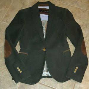 Zara Basic Dark Green Blazer